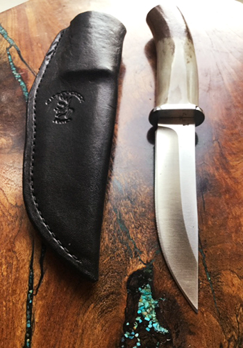 Caribou Antler Handle Knife