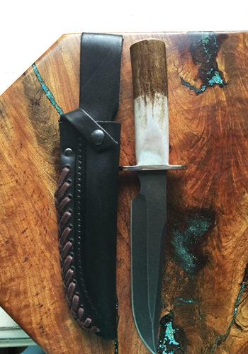 Caribou Antler Handle Slate Blade Dagger