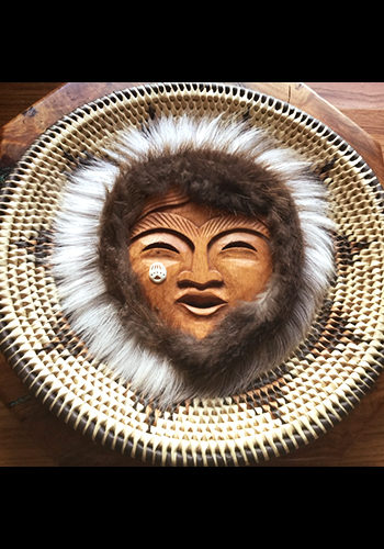 Flat Basket with Female Spirit Mask