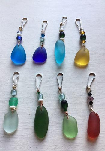 Sea Glass Zipper Pulls