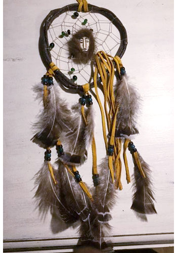 Twig Dream Catcher with Spirit Mask