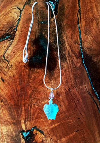 Sea Glass Turtle Necklace
